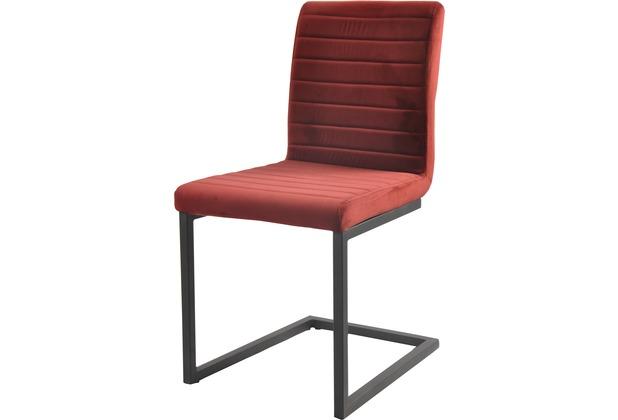 SIT SIT&CHAIRS Schwingstuhl, 2er-Set rot Gestell schwarz, Bezug rot