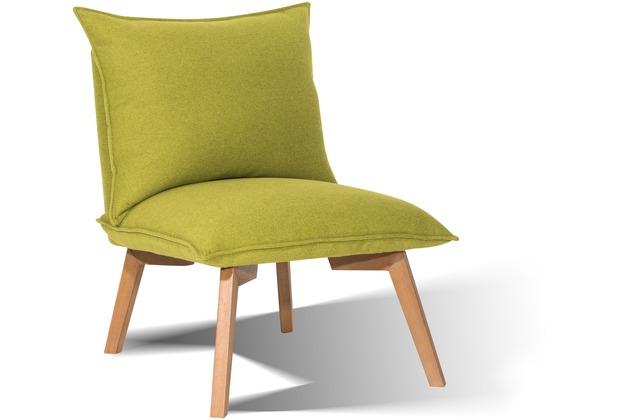 "SIT SIT&CHAIRS Sessel Beine Holz antikfinish, Bezug Stoff \""Cape\"" grün"