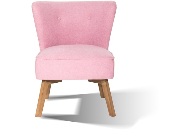 "SIT SIT&CHAIRS Sessel Beine Holz antikfinish, Bezug Stoff \""Cape\"" pink"