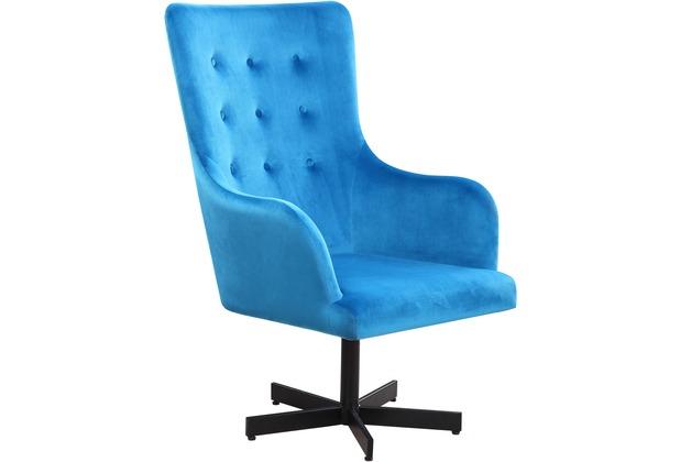 SIT SIT&CHAIRS Sessel blau Gestell schwarz, Bezug blau