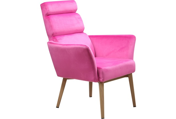SIT SIT&CHAIRS Sessel pink Gestell natur, Bezug pink