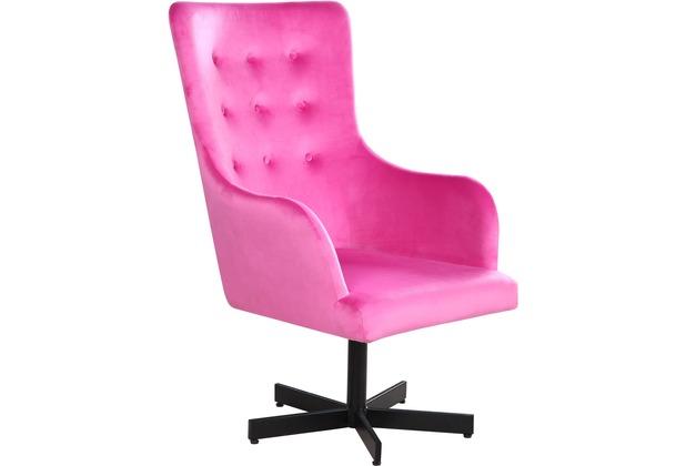 SIT SIT&CHAIRS Sessel pink Gestell schwarz, Bezug pink