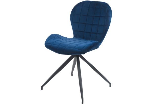 SIT SIT&CHAIRS Stuhl, 2er-Set dunkelblau Gestell schwarz, Bezug dunkelblau