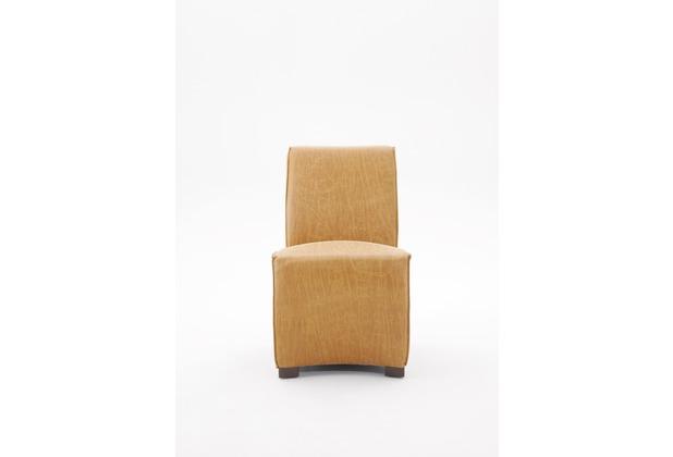 SIT SIT&CHAIRS Stuhl, 2er-Set mit schwarzem Ledergriff Bezug cognacfarbig, Beine schwarz