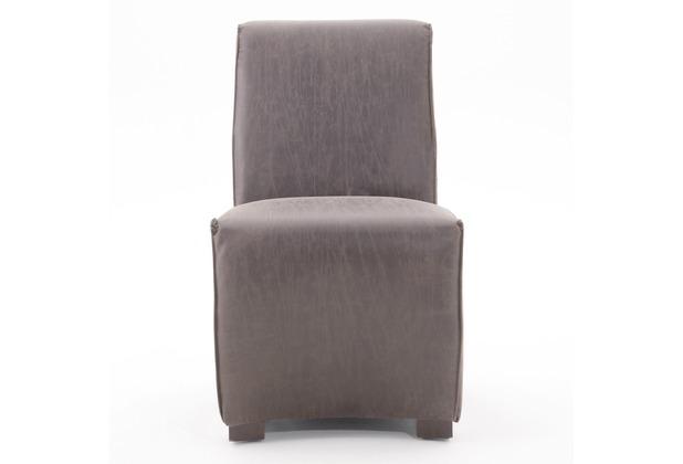SIT SIT&CHAIRS Stuhl, 2er-Set mit schwarzem Ledergriff Bezug dunkelbraun, Beine schwarz
