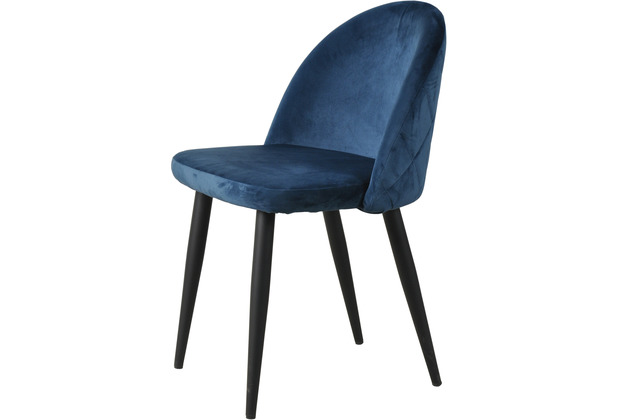 SIT SIT&CHAIRS Stuhl, 2er-Set navy blue Gestell schwarz, Bezug blau