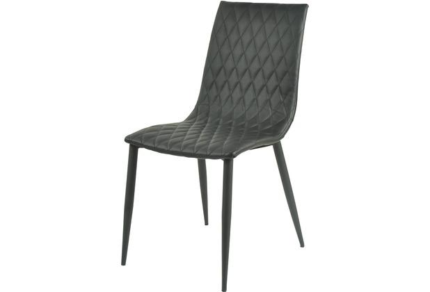SIT SIT&CHAIRS Stuhl, 2er-Set schwarz Gestell schwarz, Bezug schwarz