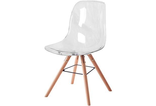 SIT SIT&CHAIRS Stuhl, 2er-Set transparent Beine natur, Sitz und Rücken transparent