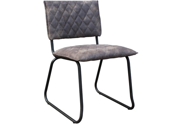 SIT SIT&CHAIRS Stuhl, 2er Set Bezug grau, Gestell antikschwarz
