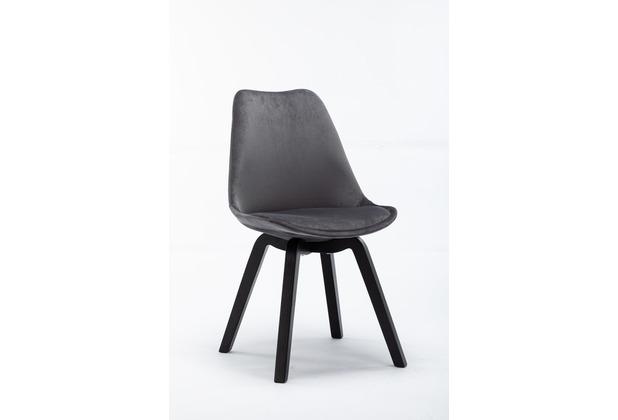 SIT SIT&CHAIRS Stuhl, 4er-Set anthrazit Gestell schwarz, Bezug anthrazit