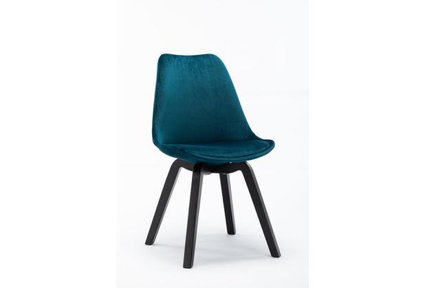 SIT SIT&CHAIRS Stuhl, 4er-Set blau Gestell schwarz, Bezug blau