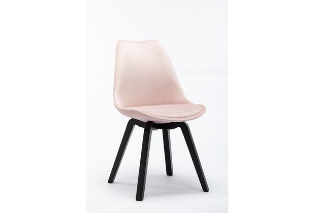 SIT SIT&CHAIRS Stuhl, 4er-Set rosa Gestell schwarz, Bezug rosa