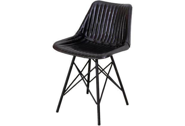 SIT SIT&CHAIRS Stuhl Gestell schwarz, Bezug schwarz