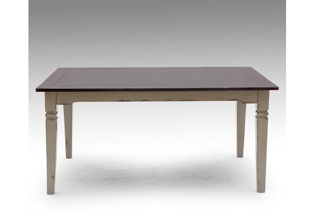 SIT SPA Tisch 160 x 90 cm taupe mit messingfarbenen Griffen