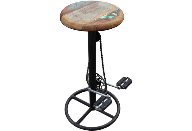 SIT-Möbel THIS & THAT Barhocker im Fahrradstil Gestell antik, Sitz bunt