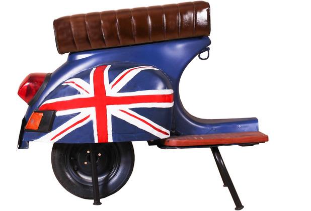"""SIT THIS & THAT Barhocker Roller recyceltes Roller-Heck \""""UK\"""" blau mit britischer Flagge"""