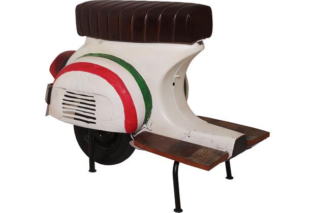 SIT THIS & THAT Barhocker Roller recyceltes Roller-Heck weiß mit farbigen Zierstreifen