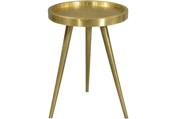 SIT THIS & THAT Beistelltisch 37x37 cm Platte mit Messing beschlagen, Gestell messingfarbig