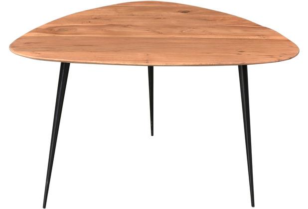 SIT THIS & THAT Couchtisch 86 x 80 cm 3 Beine, Platte dreieckig, mit abgerundeten Ecken Platte natur