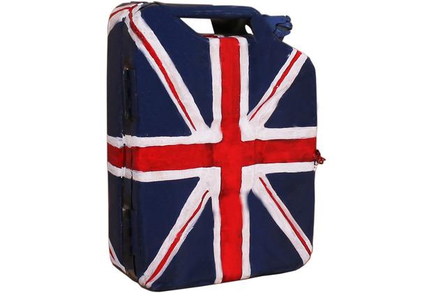 """SIT THIS & THAT Kanister-Hängeschrank aus recyceltem Kanister \""""UK\"""" mit britischer Flagge"""