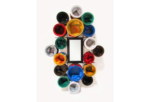 SIT THIS & THAT Spiegel rechteckig, aus recycelten Lackdosen bunt