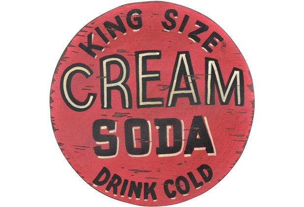 SIT THIS & THAT Wall-Art Cream Soda rot mit schwarz