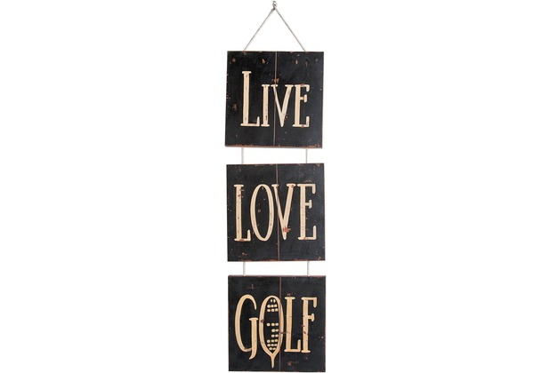 SIT THIS & THAT Wall-Art Live Love Golf bunt