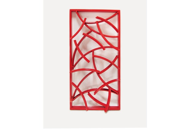 SIT THIS & THAT Wand-Dekoration 40 x 80 cm recycelte Fahrradfelgen rot