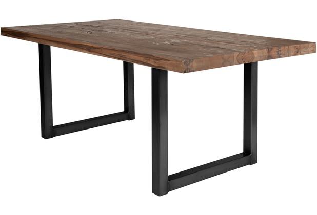 SIT TISCHE Tisch 200x100 cm, Balkeneiche Räucheröl-Finish  Platte Räucheröl-Finish, Gestell antikschwarz