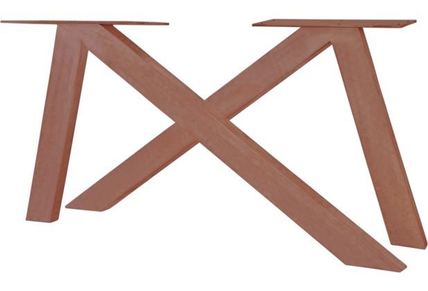 SIT TOPS & TABLES Tischgestell 2er - Set aus Eisen antikbraun