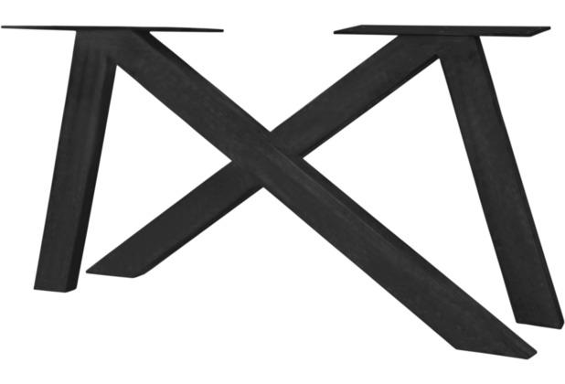 SIT-Möbel TOPS & TABLES Tischgestell 2er - Set aus Eisen antikschwarz