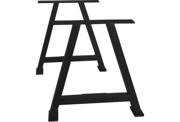 SIT TOPS & TABLES Tischgestell antikschwarz für Platten von 180 bis 240 cm antikschwarz