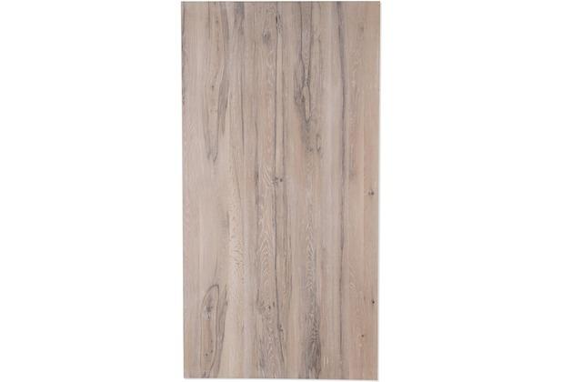 SIT TOPS & TABLES Tischplatte 180x100 cm Balkeneiche white wash, Plattenstärke 60 mm white wash