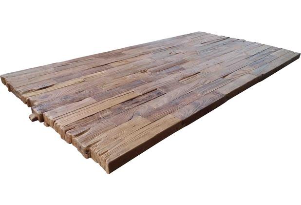 SIT TOPS & TABLES Tischplatte 180x100 cm Teak natur, Plattenstärke 50 mm natur