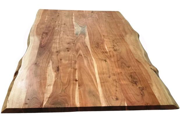 SIT-Möbel TOPS & TABLES Tischplatte 180x90 cm Baumkante wie gewachsen,gebeizt, lackiert und gewachst natur