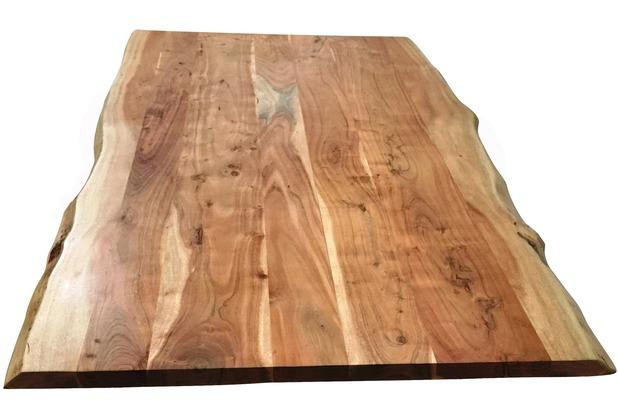 SIT TOPS & TABLES Tischplatte 220x100 cm Akazie wie gewachsen, Plattenstärke 56 mm natur