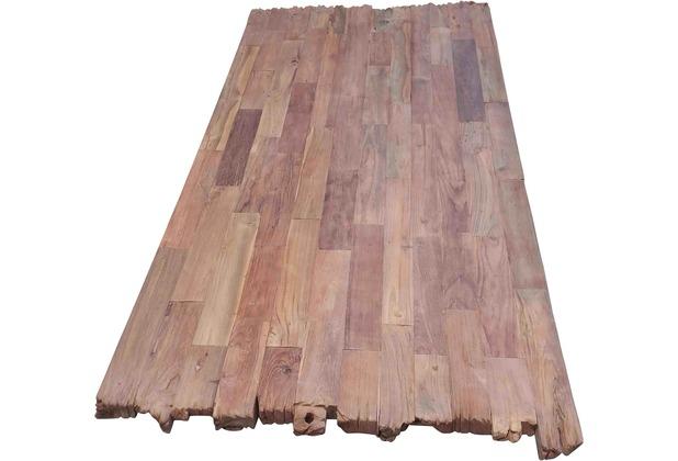 SIT TOPS & TABLES Tischplatte 220x100 cm Teak natur, Plattenstärke 50 mm dunkel