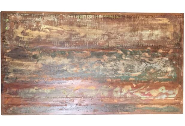 SIT-Möbel TOPS & TABLES Tischplatte 240x100 cm Altholz bunt lackiert, Plattenstärke 4 cm, aufgedoppelt bunt