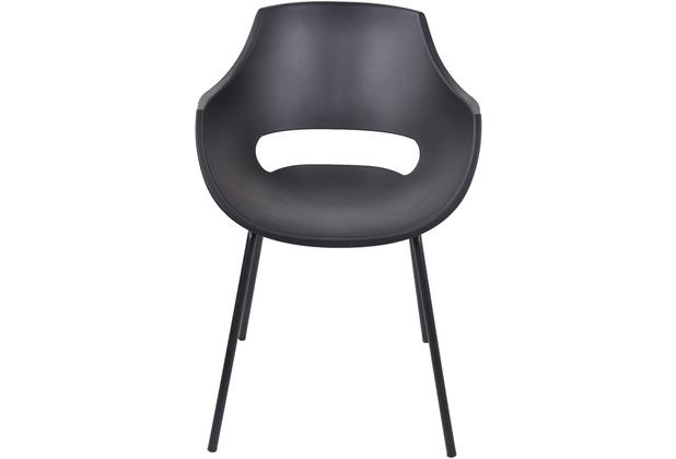 SIT &CHAIRS Stuhl, 2er-Set schwarz Sitz und Beine schwarz