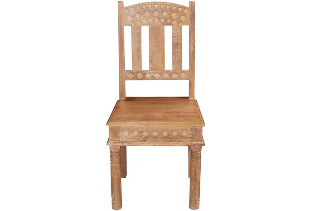 SIT LAKADEE Stuhl, 2er-Set Brettsitz, mit aufwändigen Schnitzereien