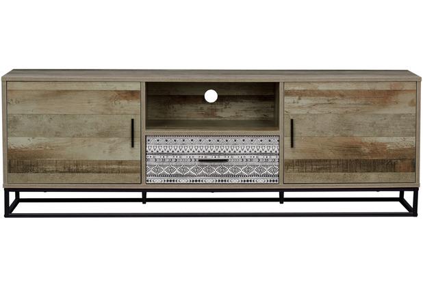 SIT MAILBOX Lowboard 2 Türen, 1 Schublade, 1 offenes Fach natur mit grau gemustert