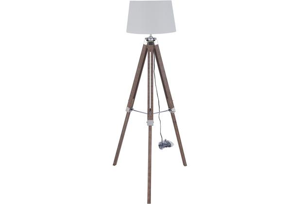 SIT THIS & THAT Stehleuchte weiß Gestell rustikal, Schirm weiß