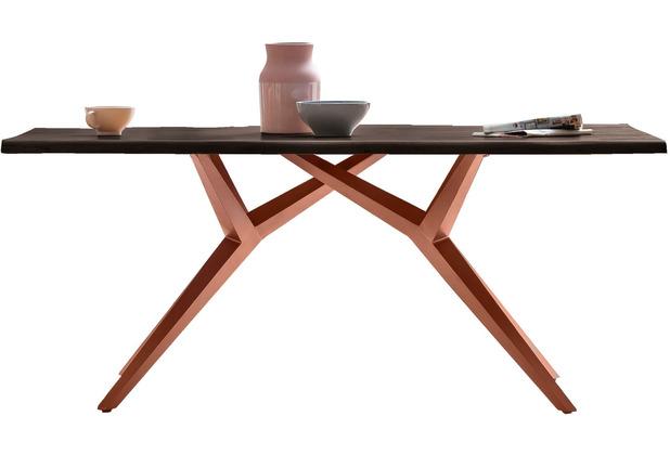 SIT TISCHE & BÄNKE Tisch 180x100 cm Platte carbon-grau, M-Gestell antikbraun