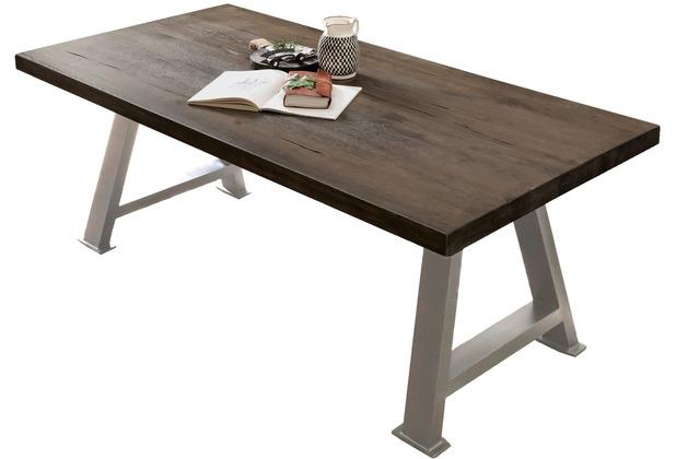 SIT TISCHE & BÄNKE Tisch 220x100 cm Platte carbon-grau, Gestell antiksilbern
