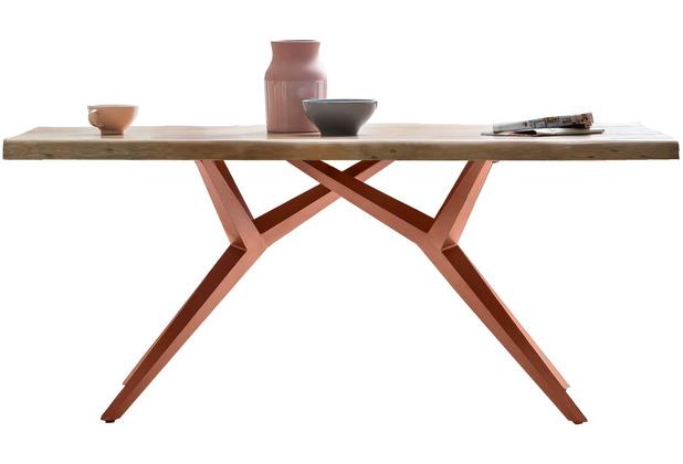 SIT TISCHE & BÄNKE Tisch 220x100 cm Platte natur, M-Gestell antikbraun