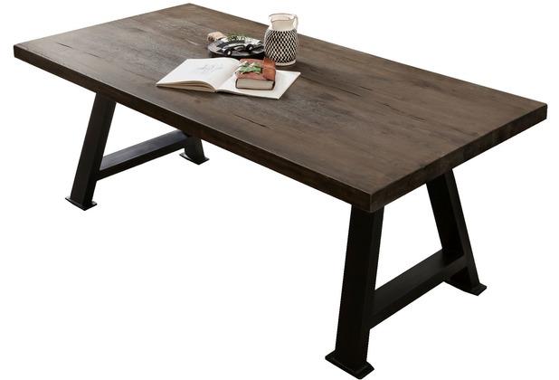 SIT TISCHE & BÄNKE Tisch 240x100 cm Platte carbon-grau, Gestell antikschwarz