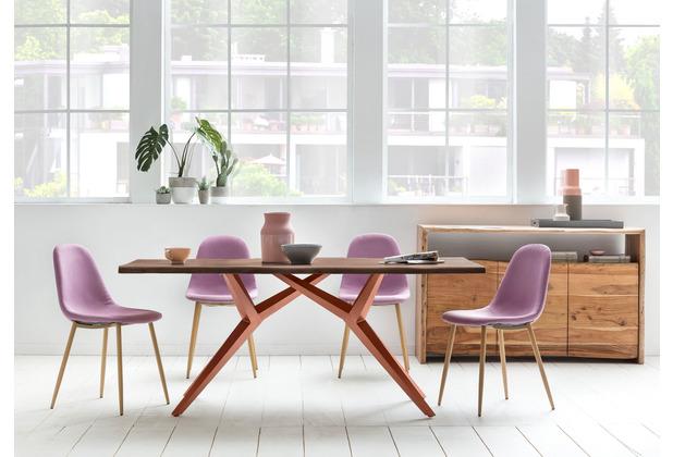 SIT TOPS & TABLES Tischgestell futuristisch antikbraun für Platten von 180 bis 240 cm antikbraun