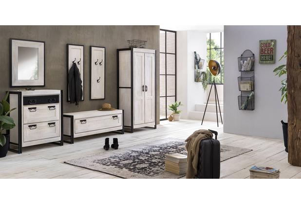 SIT WHITE PANAMA Garderobe 3 Haken weiß mit antikschwarz