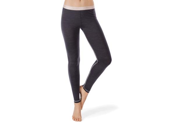 Skiny Active Wool Women Leggings lang, anthracite melange 36