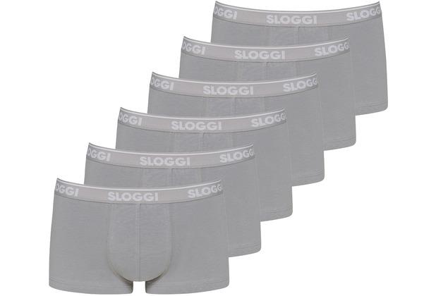 Sloggi men GO ABC Hipster 6er Pack stone grey L